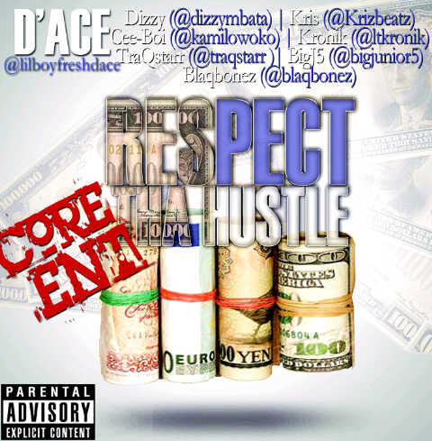 D'Ace ft. Kris, Cee Boi, TraQStarr, BigJ5, Blaqbonez, Kronik & Dizzy - RESPECT THE HUSTLE Artwork | AceWorldTeam.com