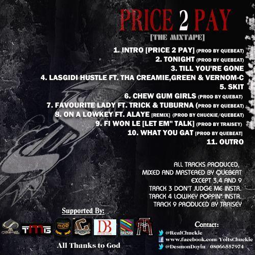 Chuckie - PRICE 2 PAY Artwork [Back Cover] | AceWorldTeam.com