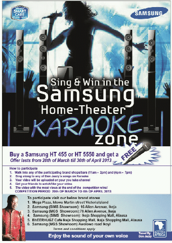 Sing & Win Karaoke Music Festival With Don Jazzy SamsungHTKaraoke Artwork | AceWorldTeam.com