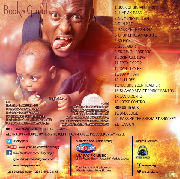 Terry G - Book Of Ginjah Tracklist | AceWorldTeam.com