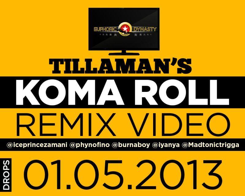 Tillaman ft. Burna Boy, Trigga Madtonic, Iyanya, Phyno & Ice Prince – KOMA ROLL Remix [Official Video] Artwork | AceWorldTeam.com