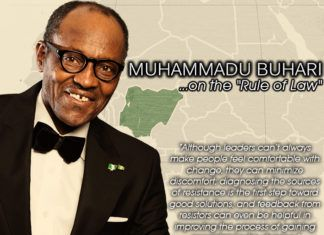 Buhari, THE RULE OF LAW - #BuhariOnTheRuleOfLaw Artwork | AceWorldTeam.com