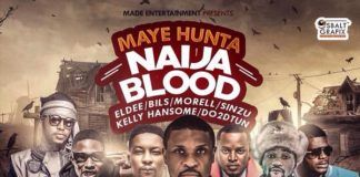 Maye Hunta ft. eLDee, Bils, Morell, Sinzu, Kelly Hansome & Do2Dtun - NAIJA BLOOD (prod. by Giggz) Artwork | AceWorldTeam.com