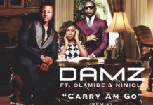 Damz ft. Olamide & NiniOla - CARRY AM GO Remix (prod. by Young John) Artwork | AceWorldTeam.com