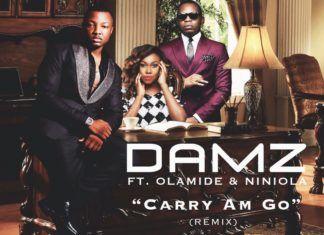 Damz ft. Olamide & NiniOla - CARRY AM GO Remix (prod. by Young John) Artwork | AceWorldTeam.com