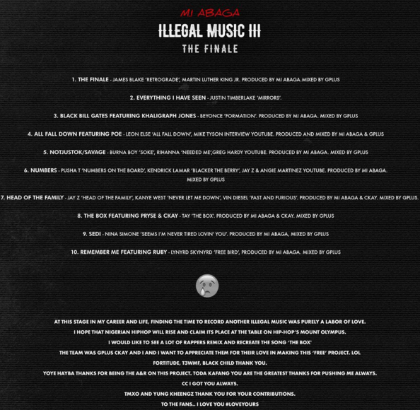 M.I - ILLEGAL MUSIC 3 (The Finale) Back Artwork | AceWorldTeam.com