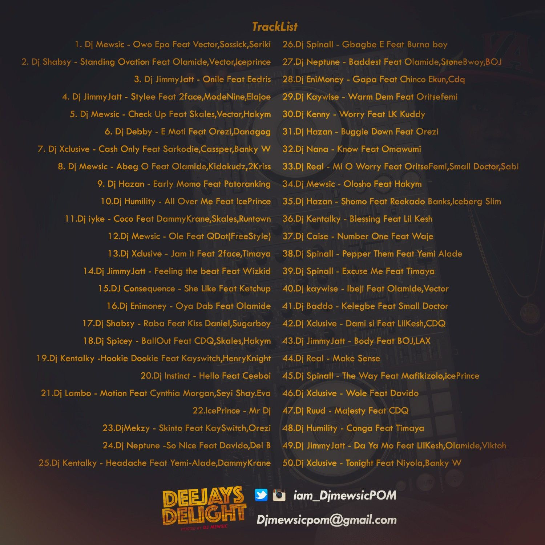 DJ Mewsic - DJ's DELIGHT (Mixtape) Back Artwork | AceWorldTeam.com