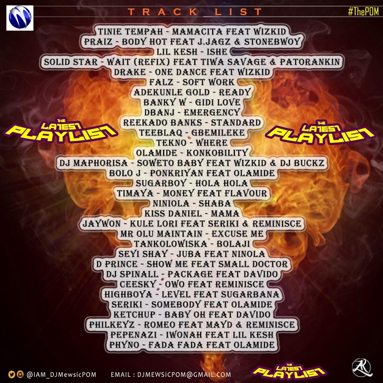 DJ Mewsic - LATEST PLAYLIST (Mixtape) Back Artwork | AceWorldTeam.com
