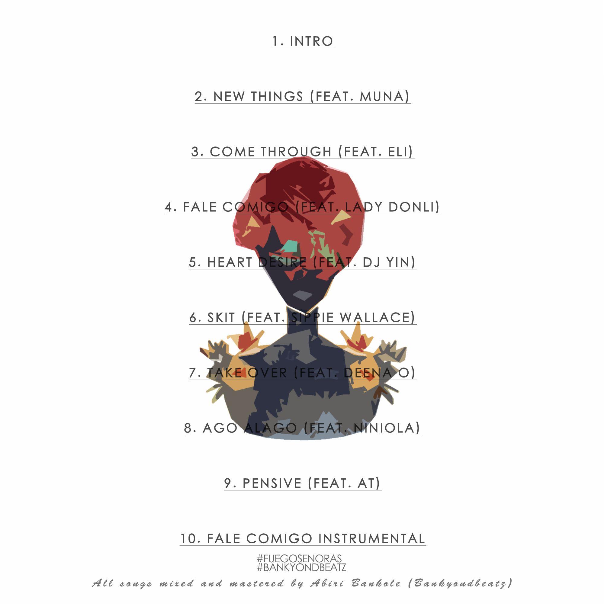 BankyOnDBeatz - FUEGO SENORAS (EP) Back Artwork | AceWorldTeam.com