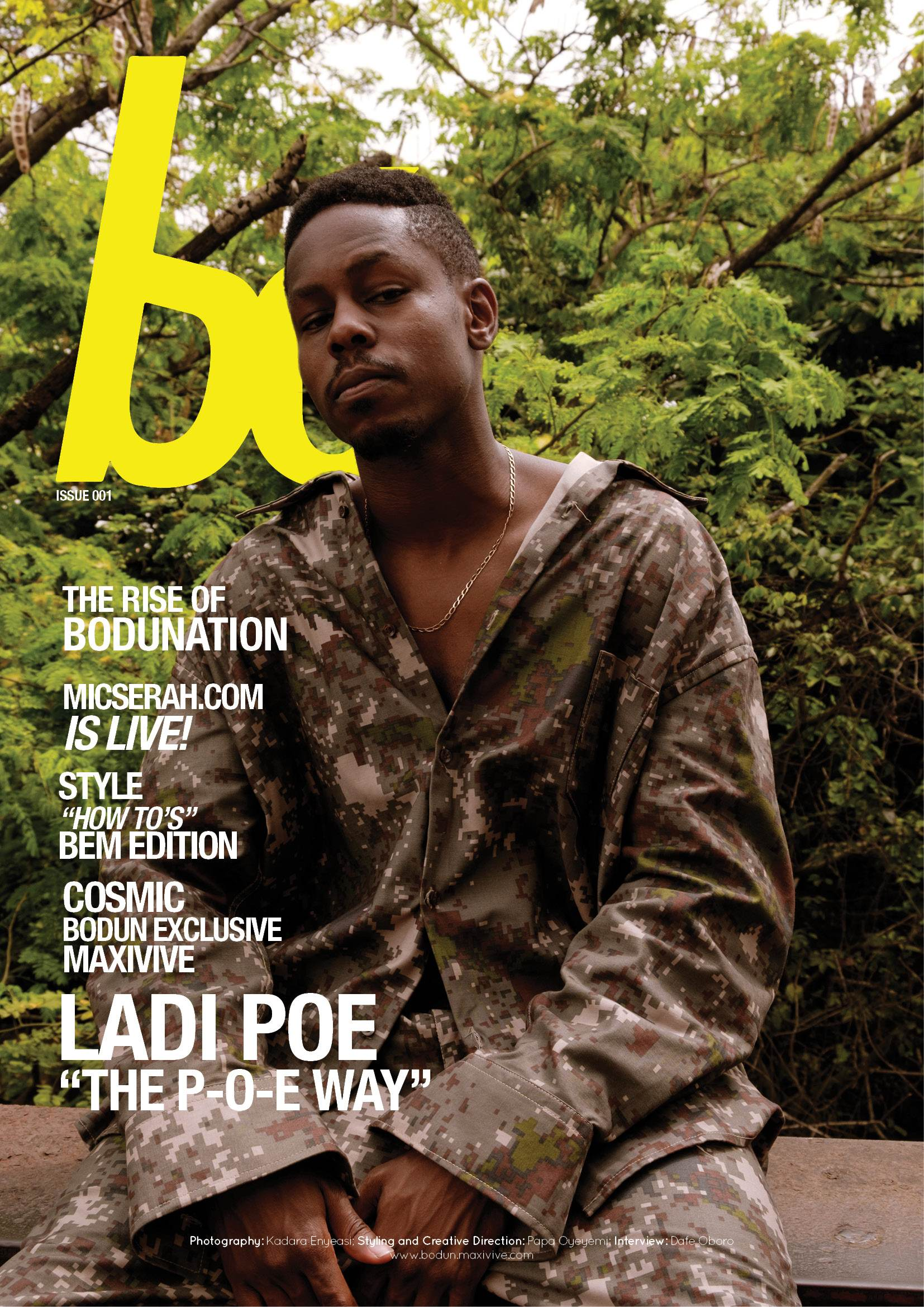 Poe - Bo Magazine Cover 1 | AceWorldTeam.com