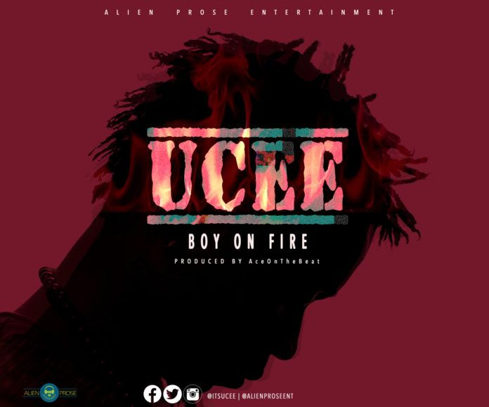UCee - BOY ON FIRE (prod. by AceOnDeBeatz) Artwork | AceWorldTeam.com