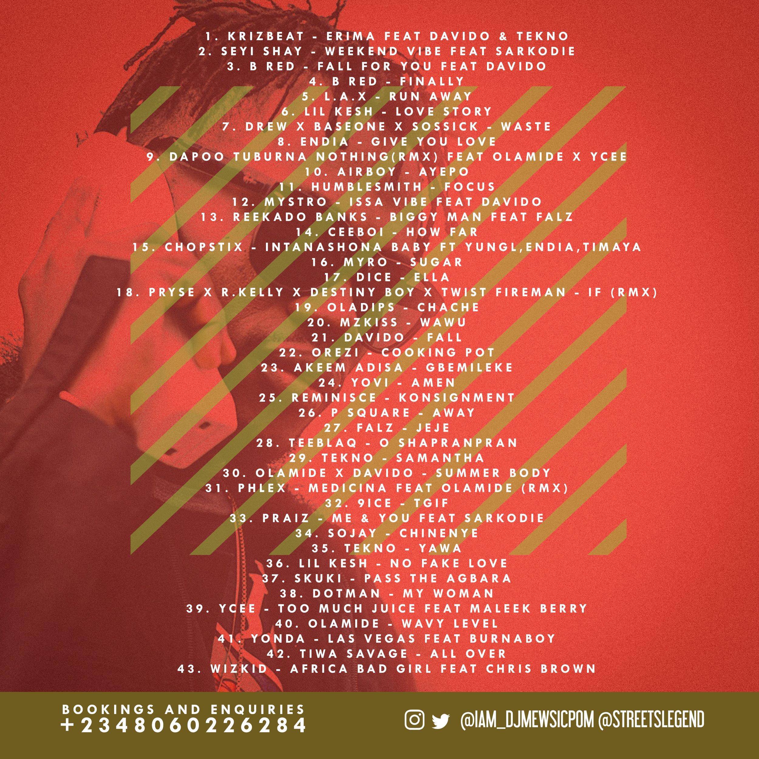 DJ Mewsic - NAIJA IS DANCING Mixtape Vol. 16 (Summer Vibe Mix) Back Artwork | AceWorldTeam.com
