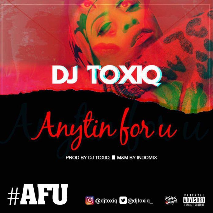 DJ Toxiq - ANYTHING FOR U Artwork   AceWorldTeam.com
