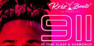KrizBeatz ft. Yemi Alade & Harmonize - 911 Artwork | AceWorldTeam.com