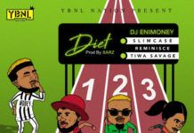 DJ Enimoney ft. Slimcase, Reminisce & Tiwa Savage - DIET (prod. by Sarz) Artwork | AceWorldTeam.com
