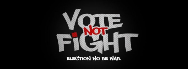 2face Idibia - VOTE NOT FIGHT [Theme Song] Artwork | AceWorldTeam.com