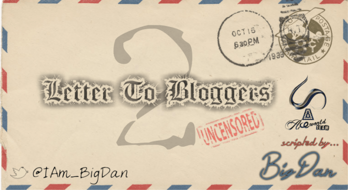 BigDan - LETTER TO BLOGGERS 2 Artwork | AceWorldTeam.com