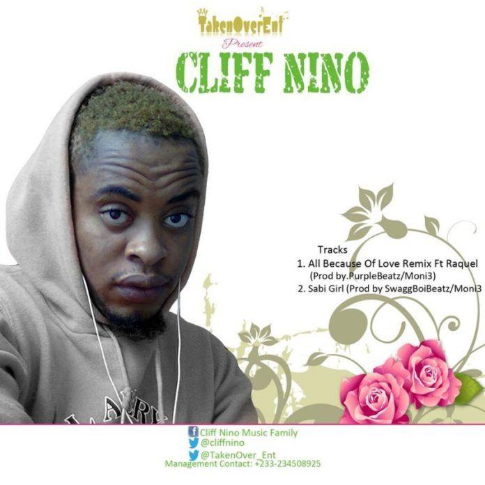 Cliff Nino ft. Raquel - ALL BECAUSE OF LOVE Remix [prod. by PurpleBeatzMoni3] Artwork | AceWorldTeam.com