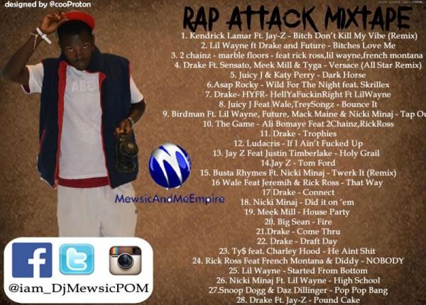 DJ Mewsic - RAP ATTACK [1st Edition] Mixtape Artwork | AceWorldTeam.com