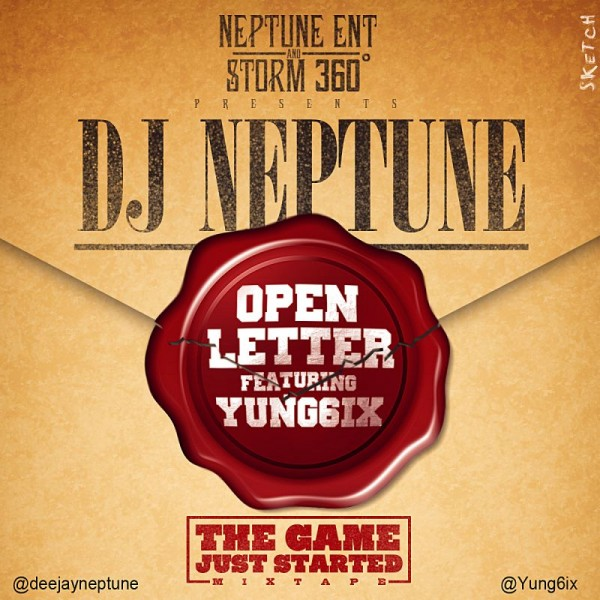 DJ Neptune ft. Yung6ix - OPEN LETTER Artwork | AceWorldTeam.com