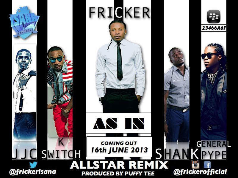 Fricker ft. General Pype, Shank, KaySwitch & JJC - AS IN All-Star Remix [prod. by Puffy Tee] Artwork | AceWorldTeam.com