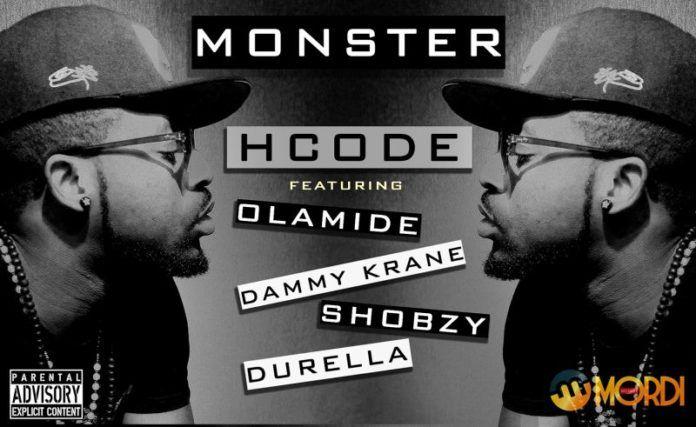HCode ft. Olamide, Dammy Krane, Shobzy & Durella - MONSTER Remix Artwork | AceWorldTeam.com
