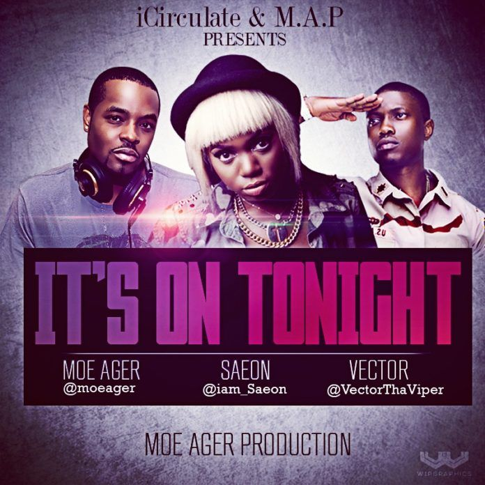 Moe Ager [NBA Dallas Maverick] ft. Saeon & Vector - IT'S ON TONIGHT Artwork | AceWorldTeam.com