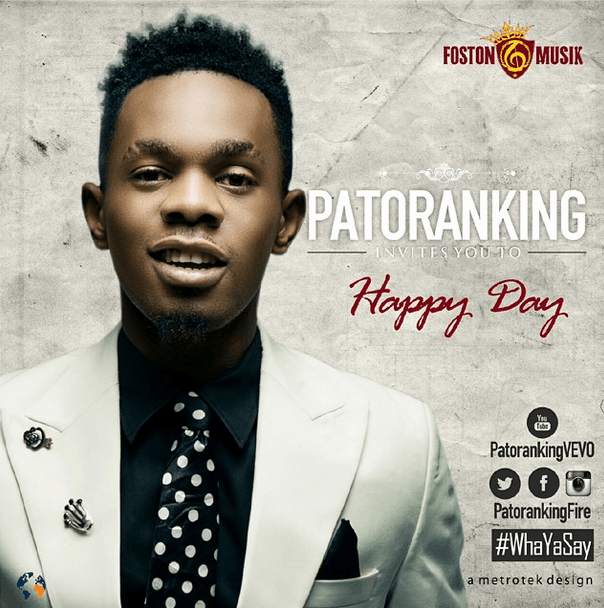 Patoranking - HAPPY DAY Artwork | AceWorldTeam.com