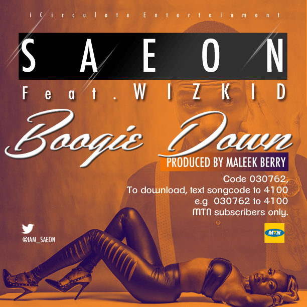 Saeon ft. Wizkid - BOOGIE DOWN [prod. by Maleek Berry] Artwork | AceWorldTeam.com